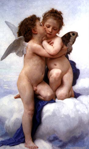 L'Amour et Psyché, enfants (in English, Cupid and Psyche as Children) by William-Adolphe Bouguereau