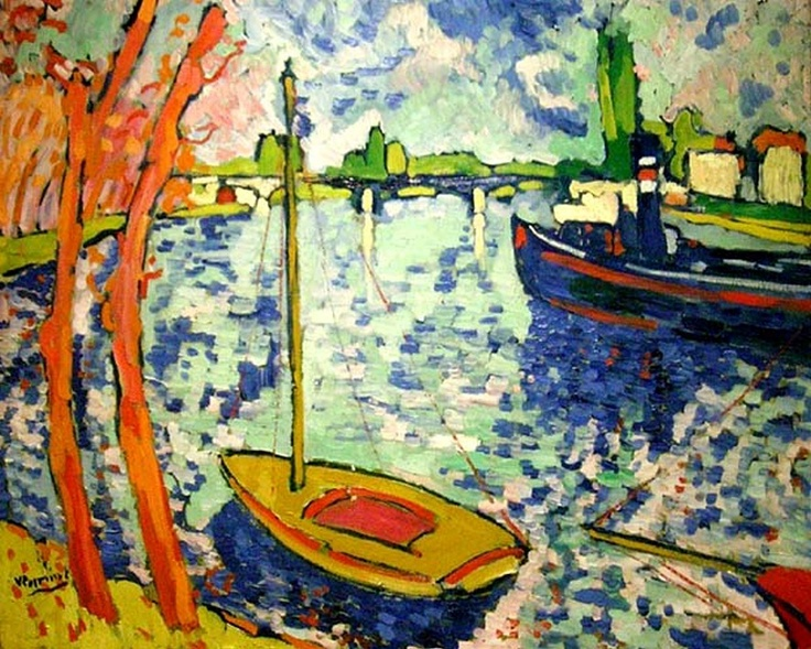 The River Seine at Chatou by Maurice de Vlaminck