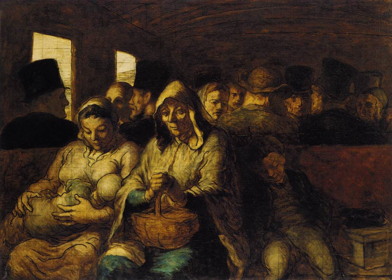 Third Class Carriage by Honoré Daumier
