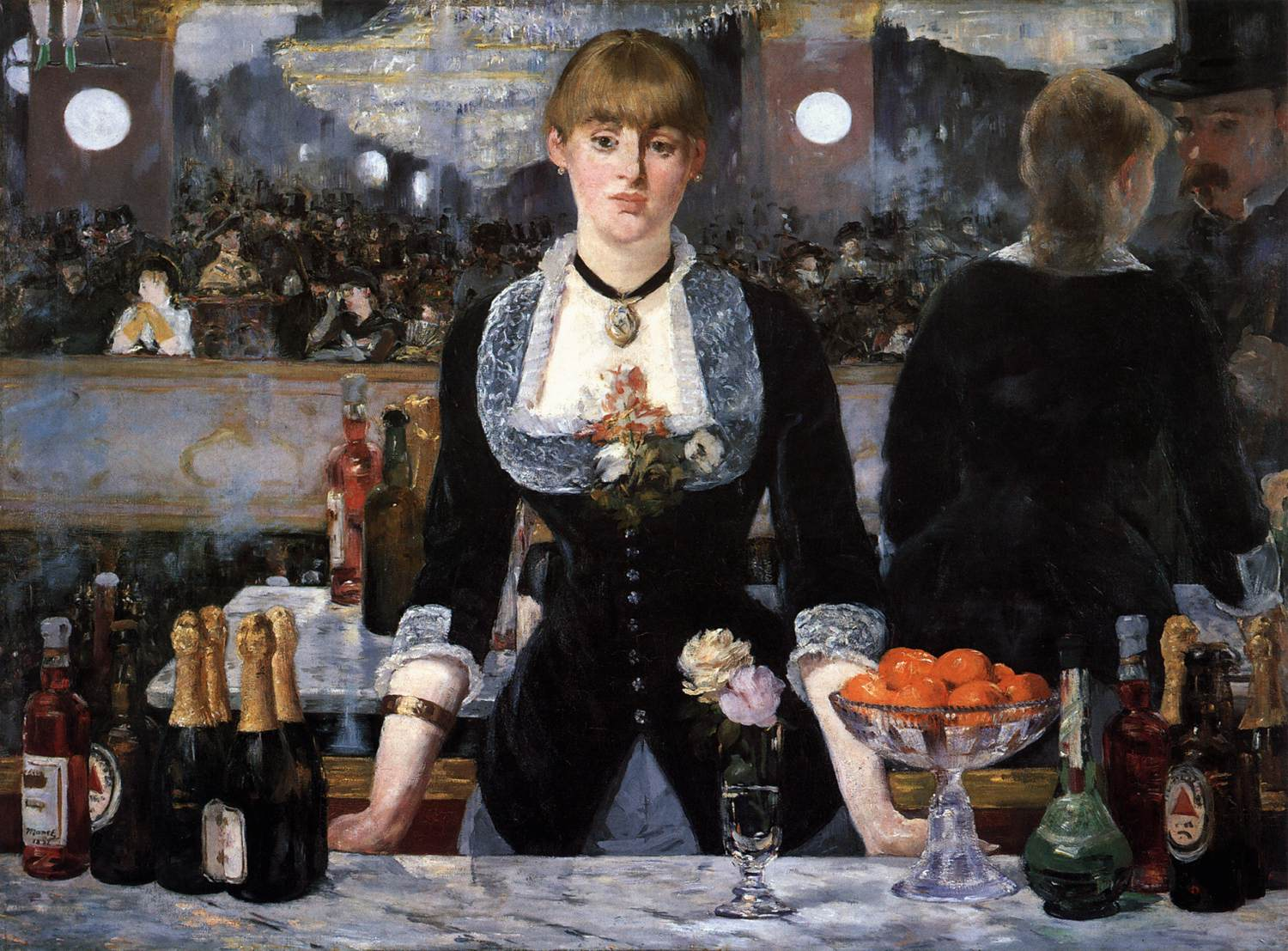 A Bar at the Folies-Bergère by Édouard Manet