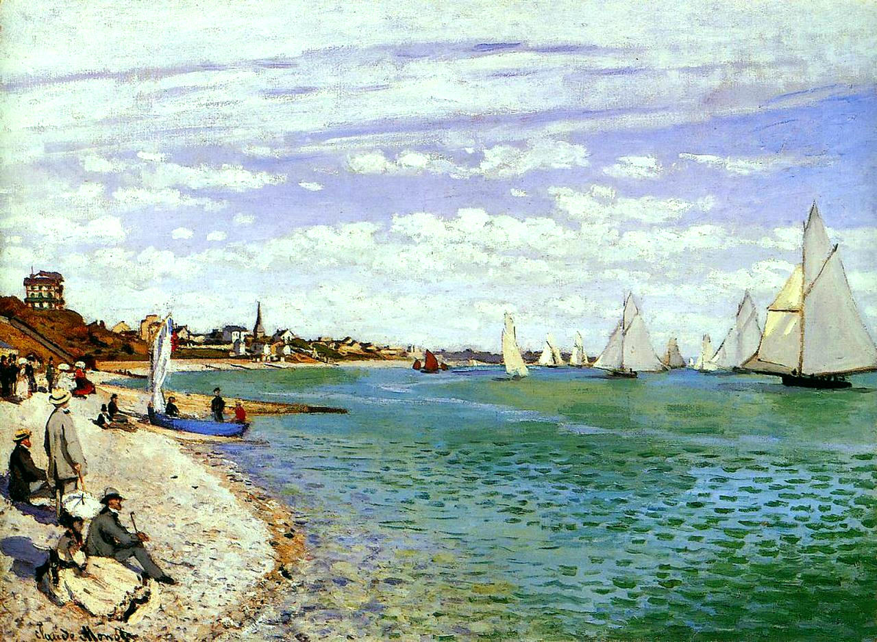The Regatta at Sainte-Adresse by Monet