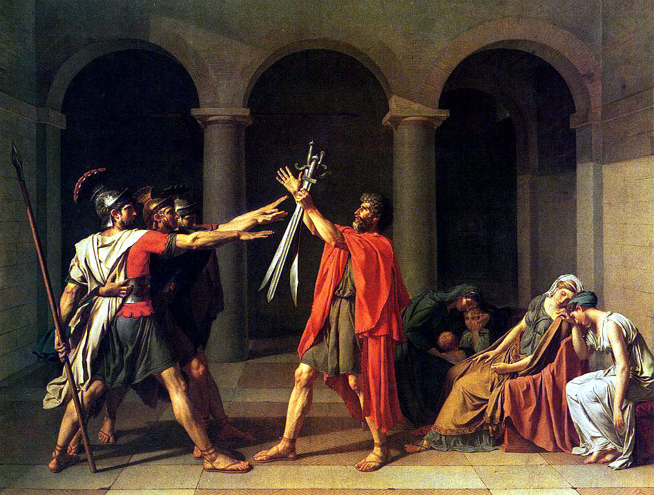 The Oath of Horatii by Jacques-Louis David