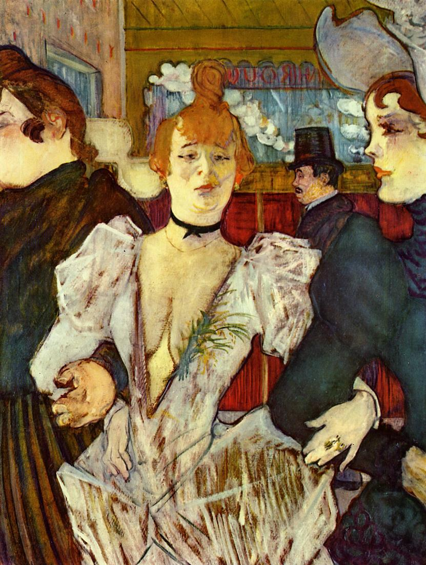 La Goulue arriving at the Moulin Rouge by Henri de Toulouse-Lautrec