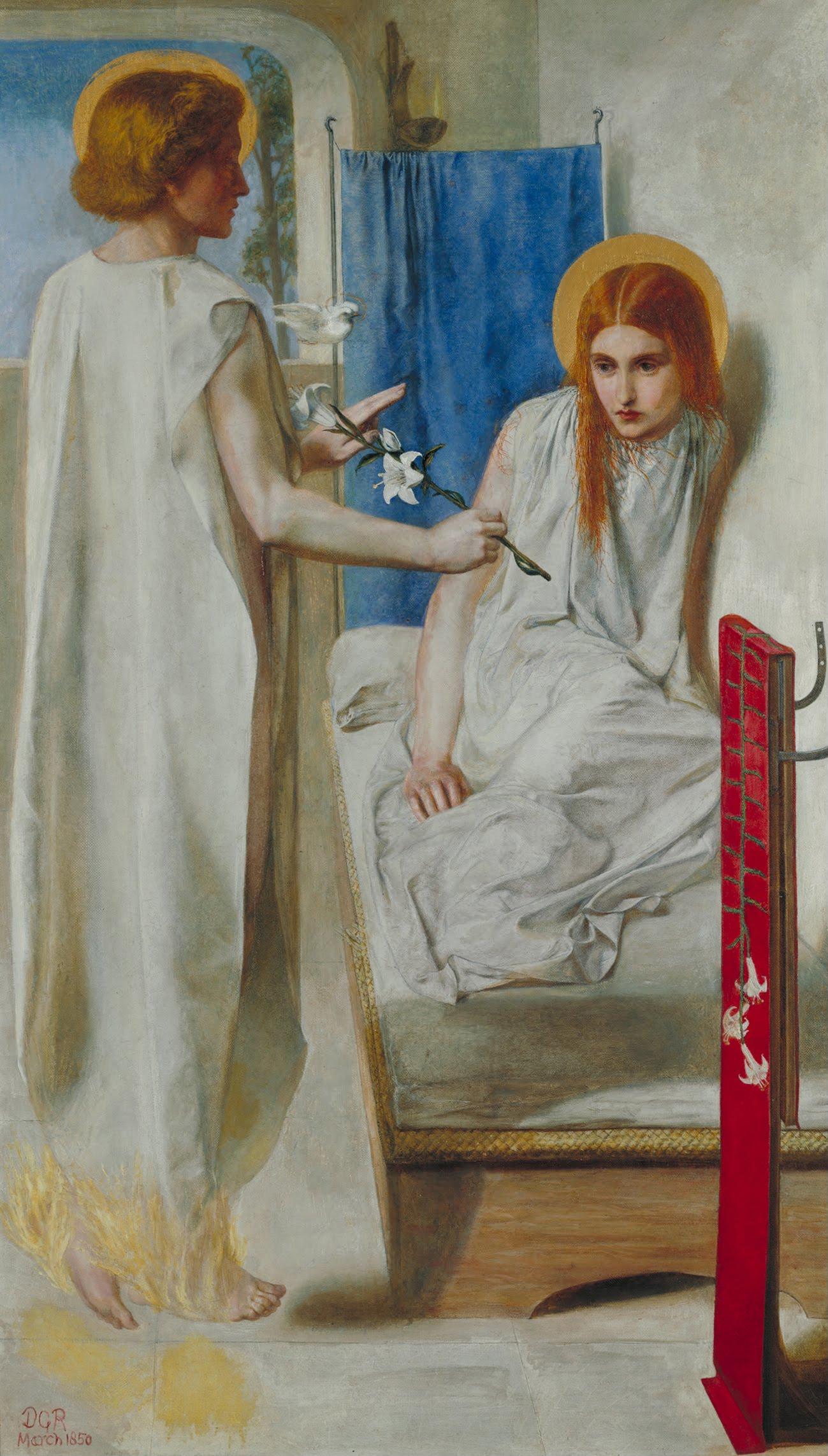The Annunication or Ecce Ancilla Domini, by Dante Gabriel Rossetti