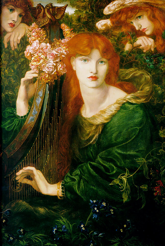 La Ghirlandata, by Dante Gabriel Rossetti (model: Alexa Wilding)