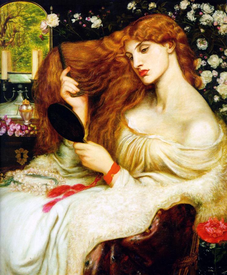 Lady Lilith, by Dante Gabriel Rossetti (models: Fanny Cornforth and Alexa Wilding)