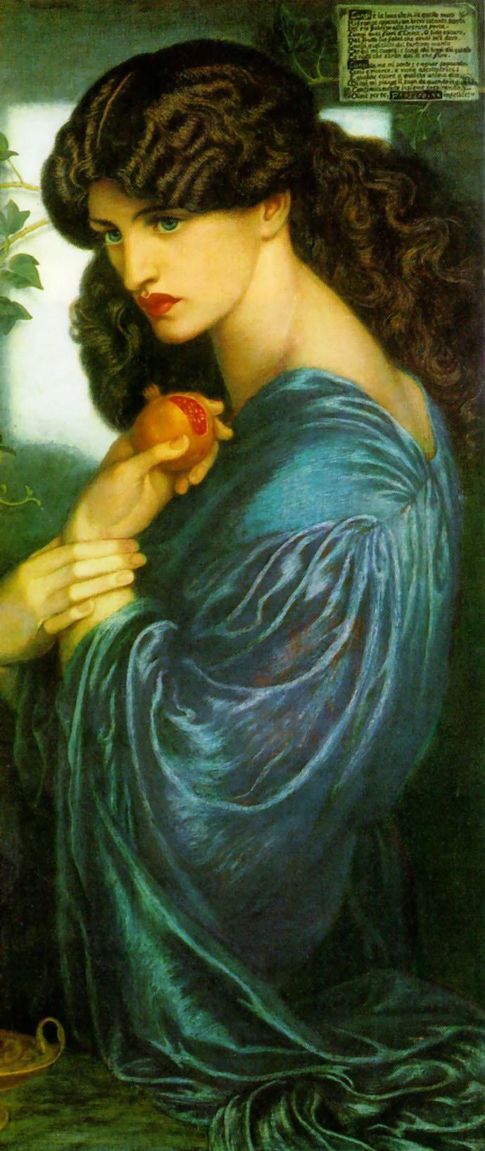 Proserpine, by Dante Gabriel Rossetti (model: Jane Morris)