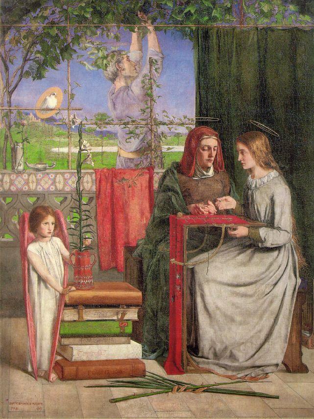 The Girlhood of Mary Virgin, by Dante Gabriel Rossetti