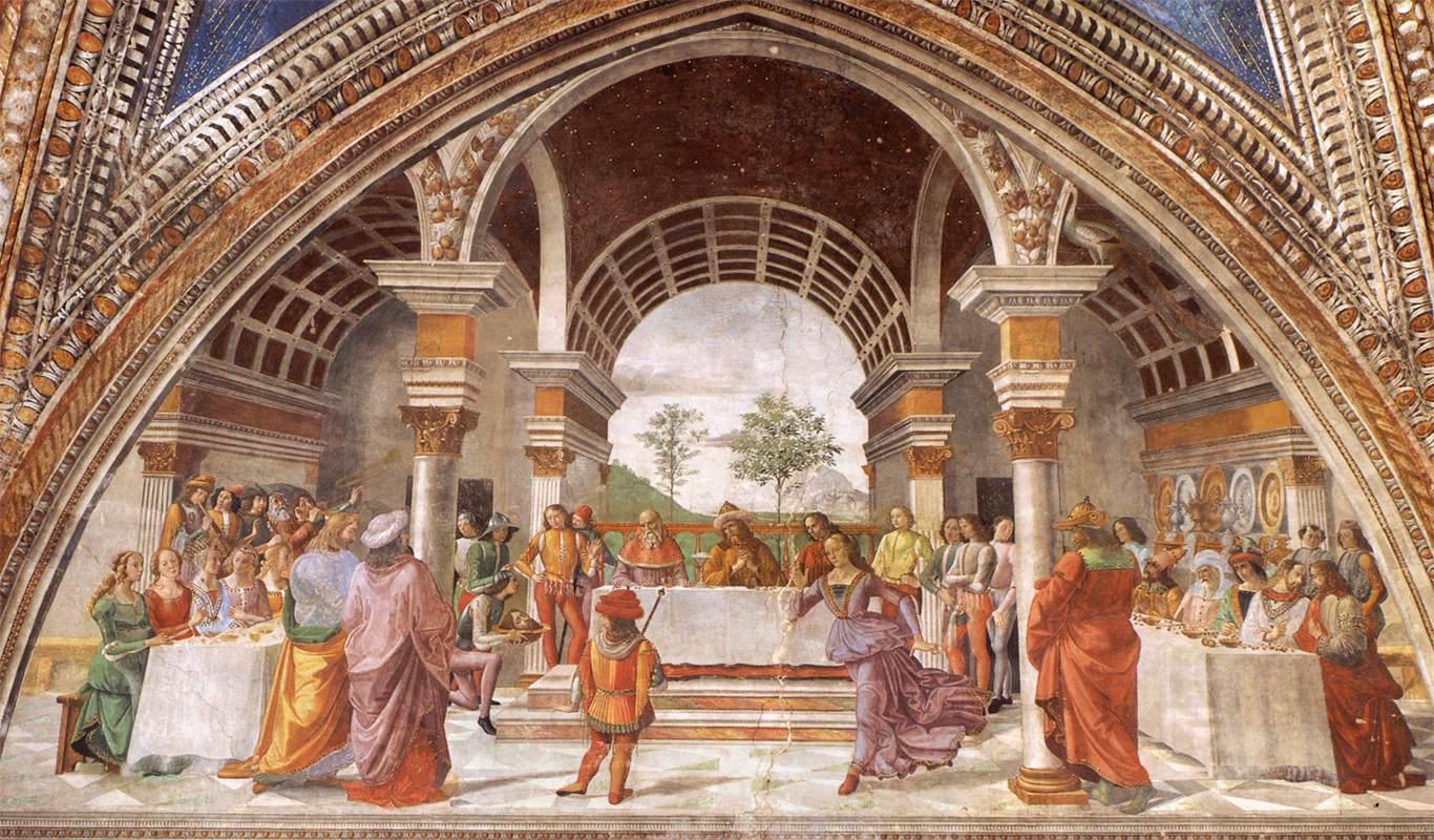Herod's Banquet by Domenico Ghirlandaio