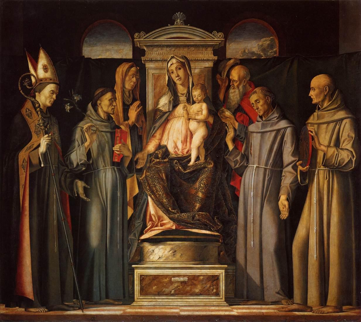 Madonna and Child with Saints by Alvise Vivarini