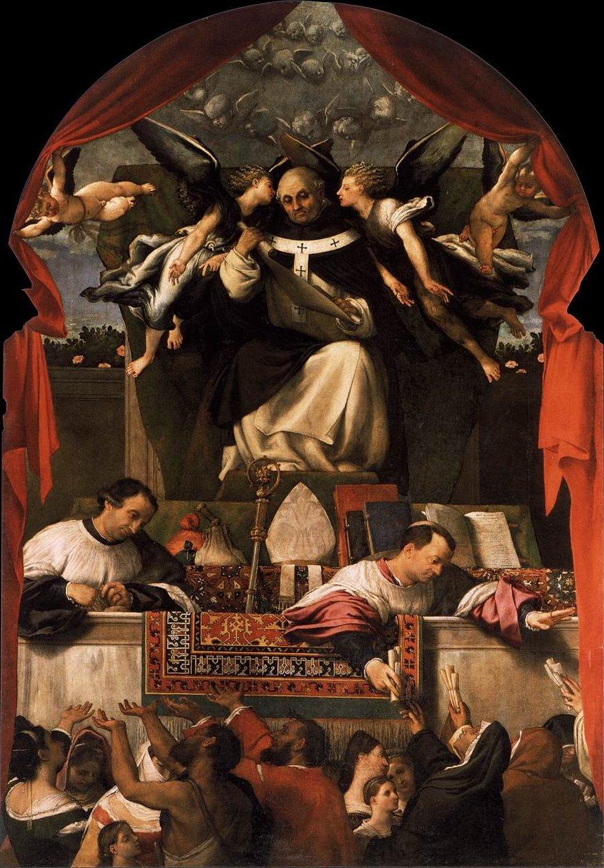 The Alms of St Anthony by Lorenzo Lotto