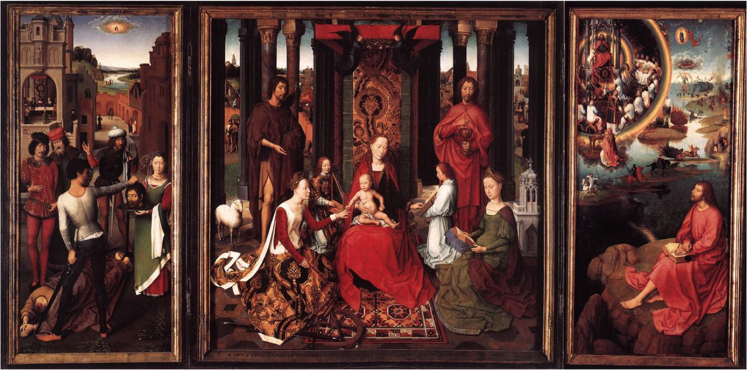 Triptych of St. John the Baptist and St. John the Evangelist by Hans Memling