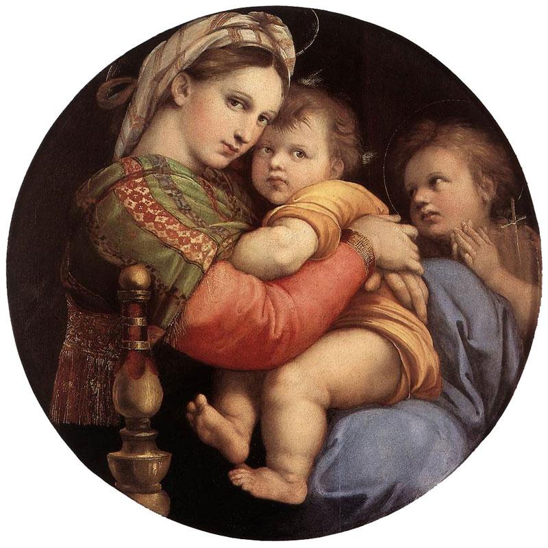 Madonna della seggiola (Madonna of the Chair) by Raphael