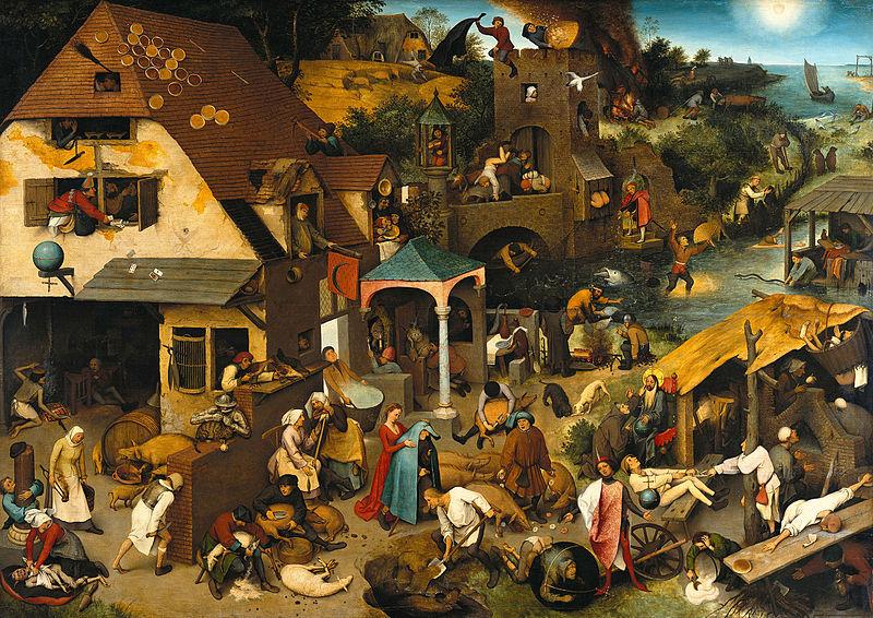 Netherlandish Proverbs by Pieter Bruegel the Elder