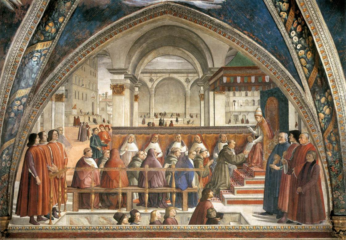 The Confirmation of the Franciscan Rule by Domenico Ghirlandaio