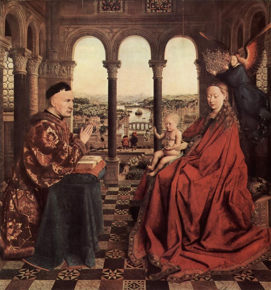 The Virgin of Chancellor Rolin by Jan Van Eyck
