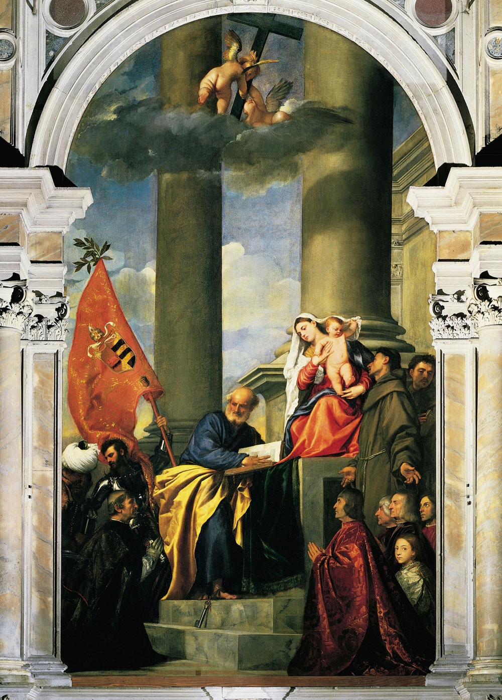Madonna of the Pesaro Family by Titian