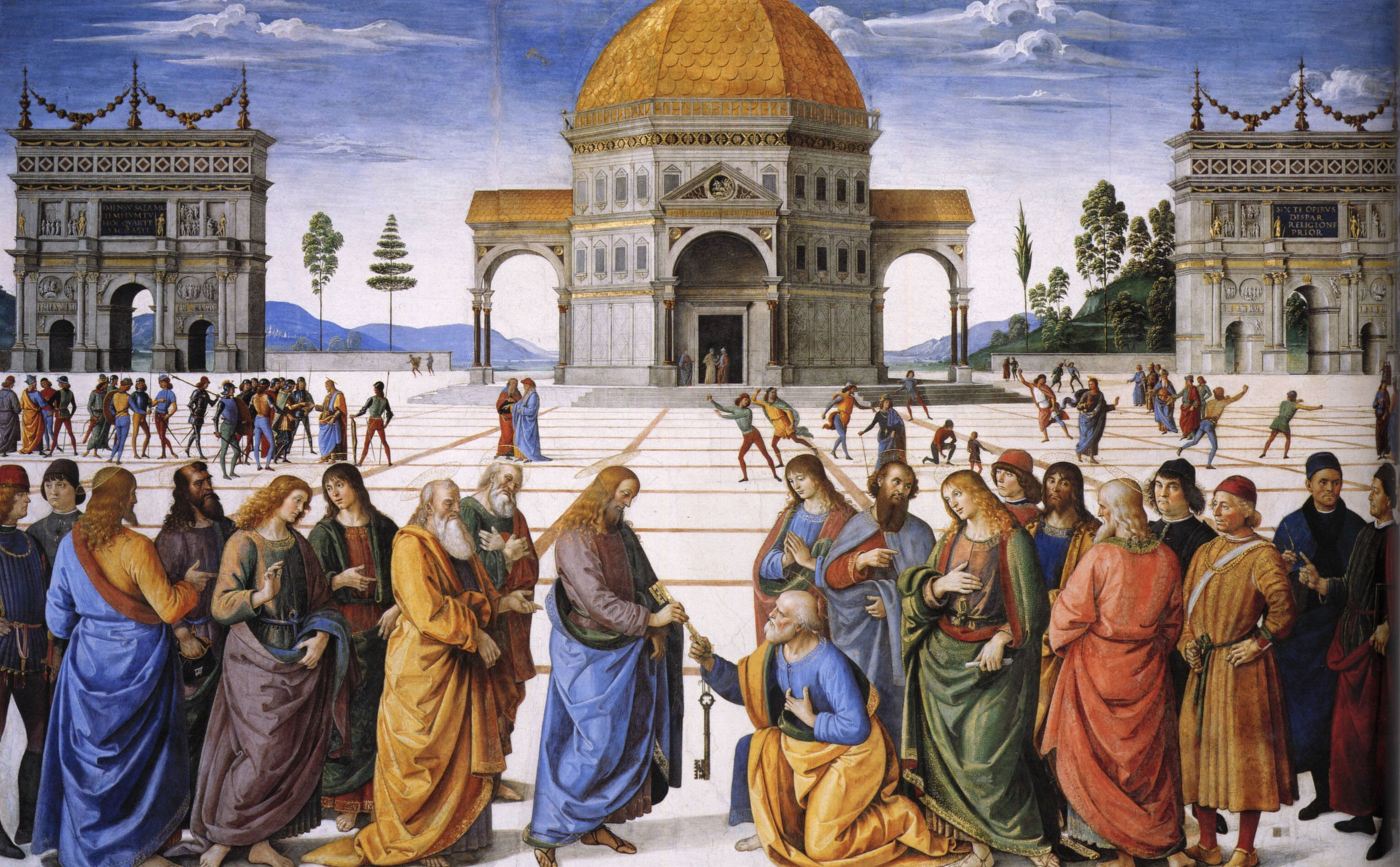 Christ Giving the Keys to St. Peter by Pietro Perugino