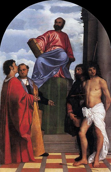 St Mark Enthroned by Titian