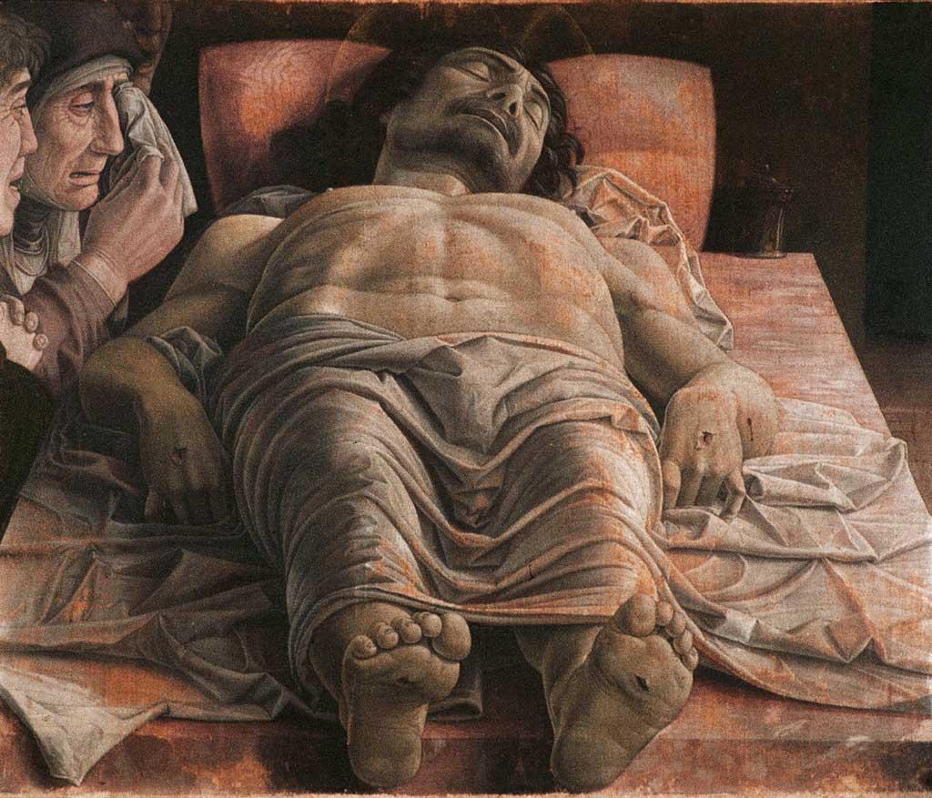 Lamentation of Christ by Andrea Mantegna