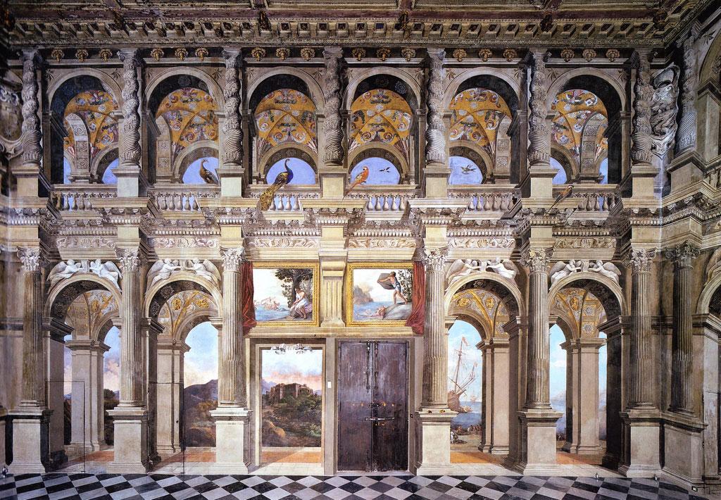 Main hall of Palazzo Lancellotti by Agostino Tassi
