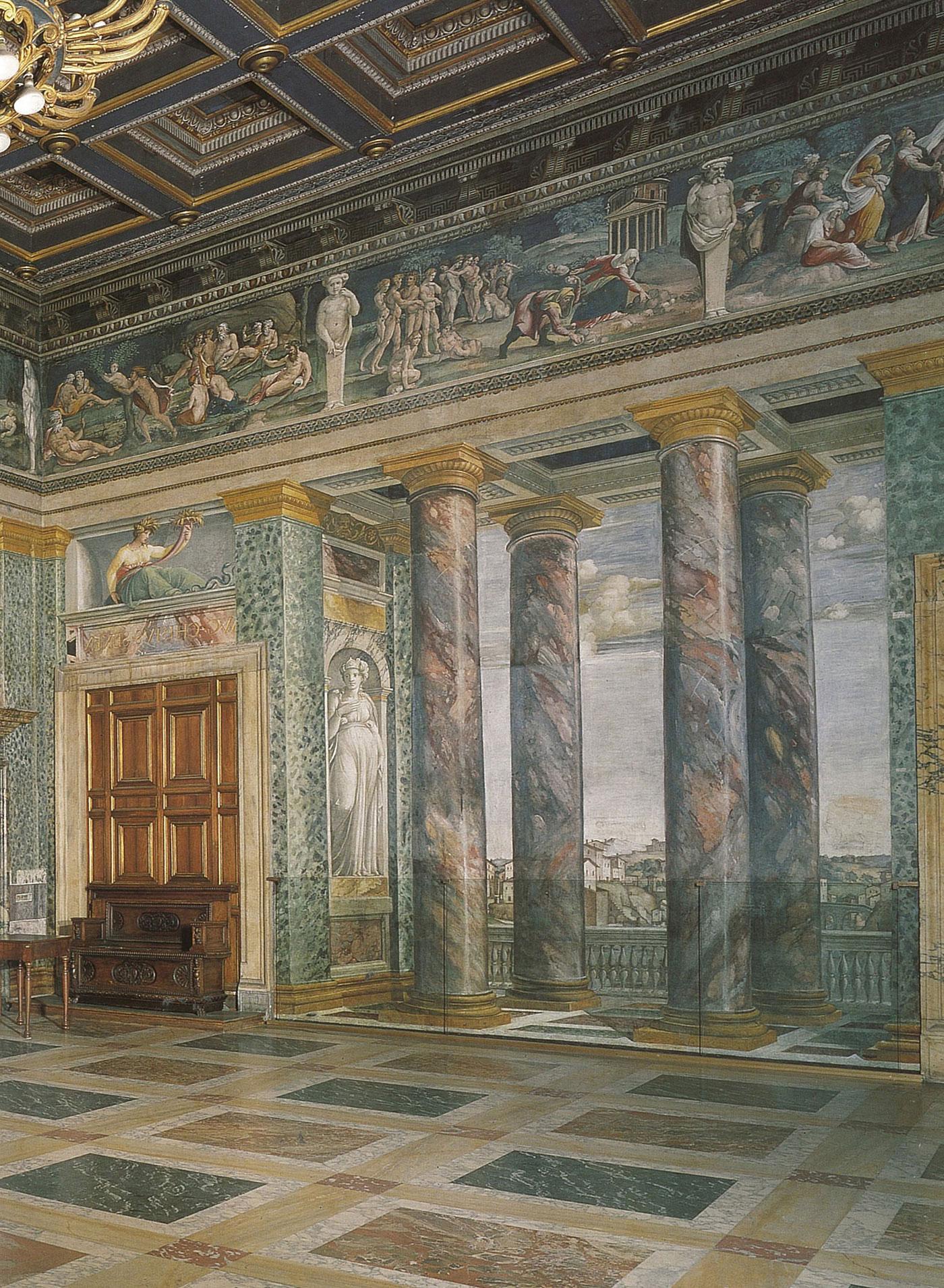 Sala delle Prospettive of Villa Farnesina by Baldassare Peruzzi