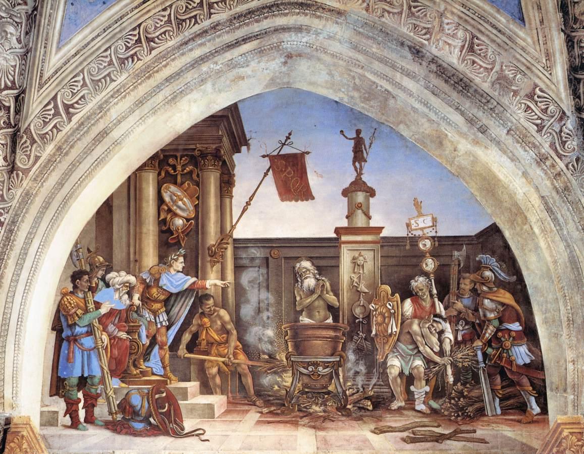 Torture of St John the Evangelist by Filippino Lippi