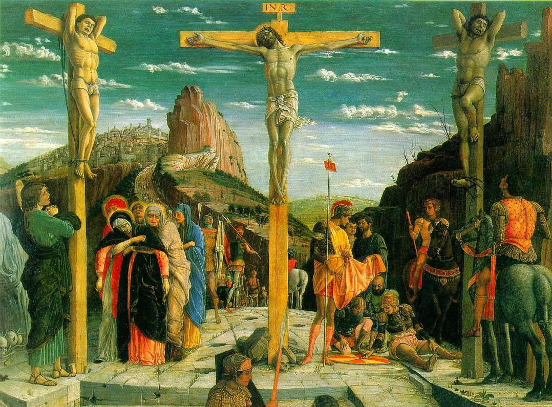 The crucifixion aka the Calvary by Andrea Mantegna