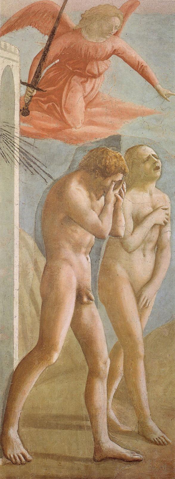Expulsion of Adam and Eve from Eden by Masaccio