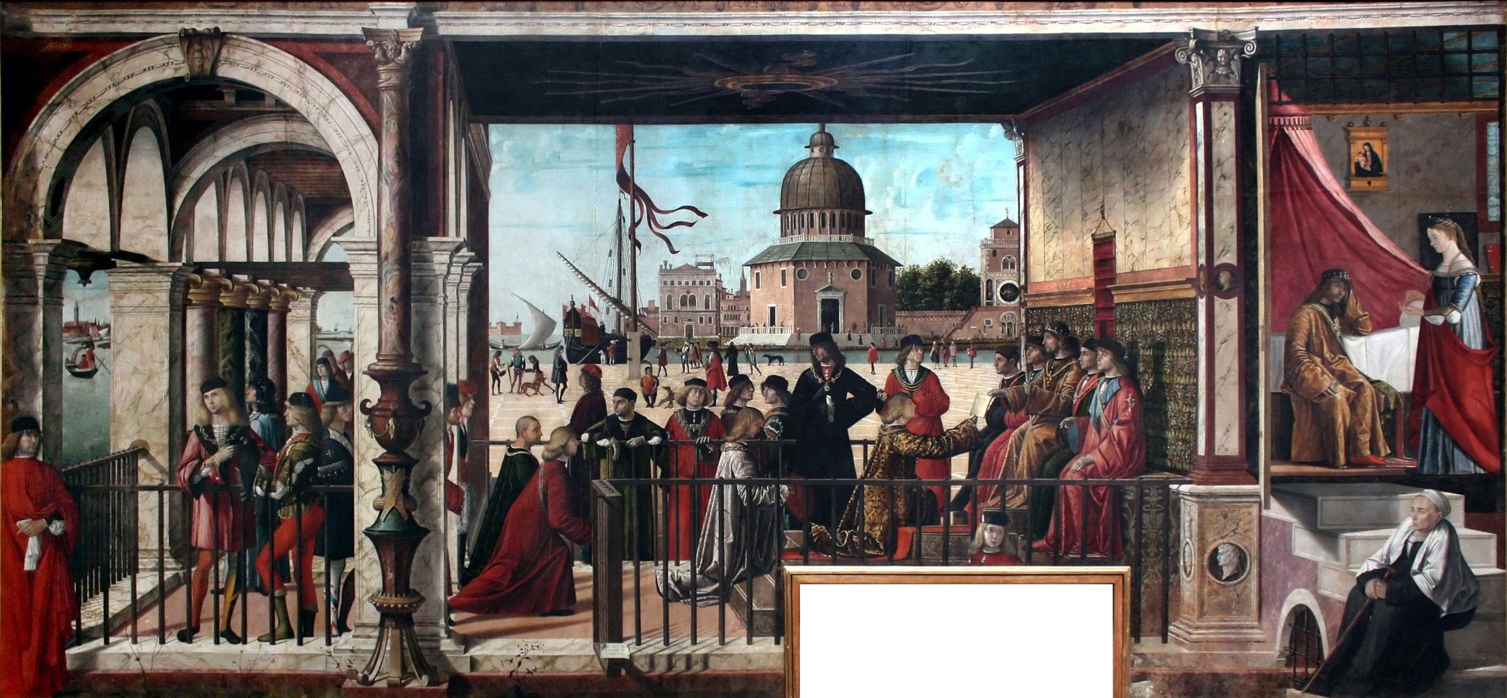 Legend of Saint Ursula - Arrival of the English Ambassadors by Vittore Carpaccio