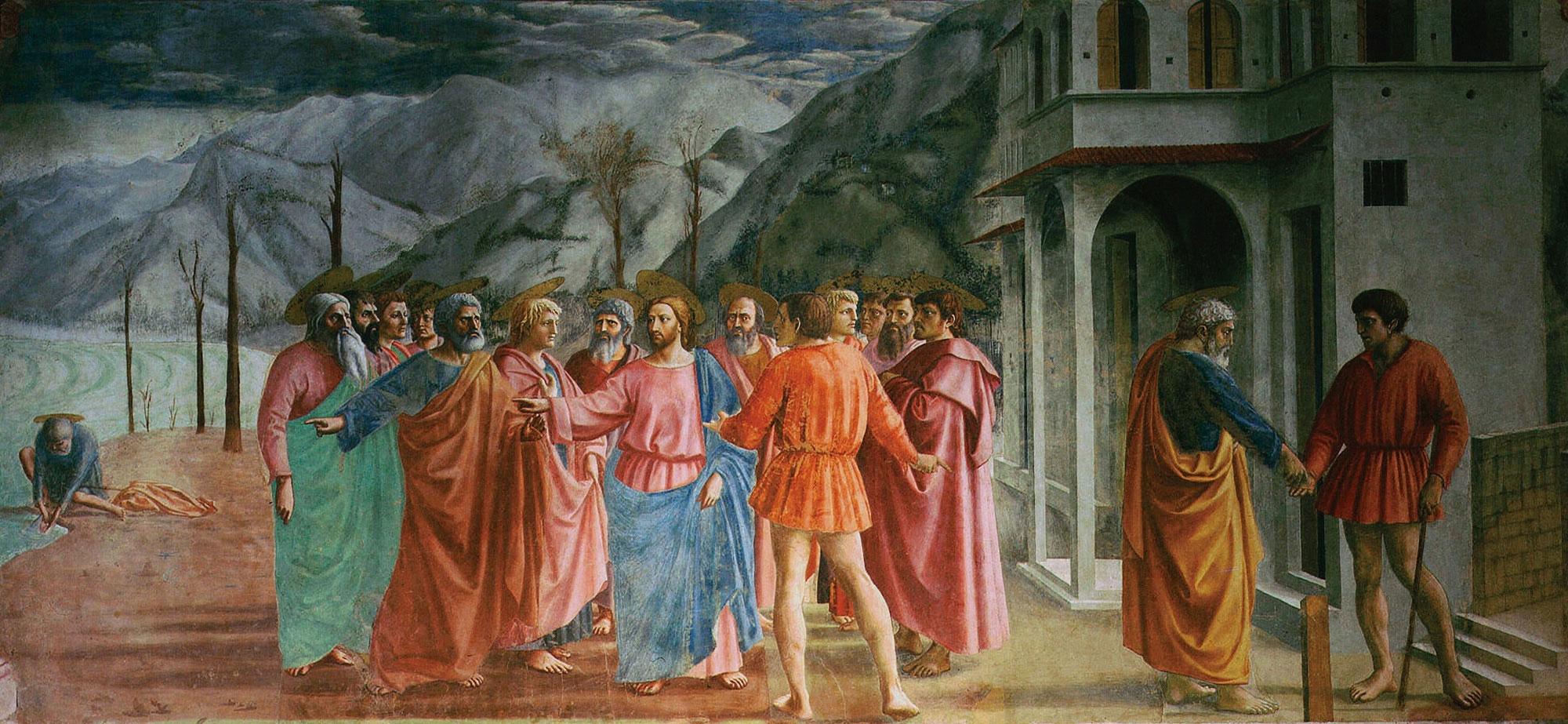 The Tribute Money by Masaccio
