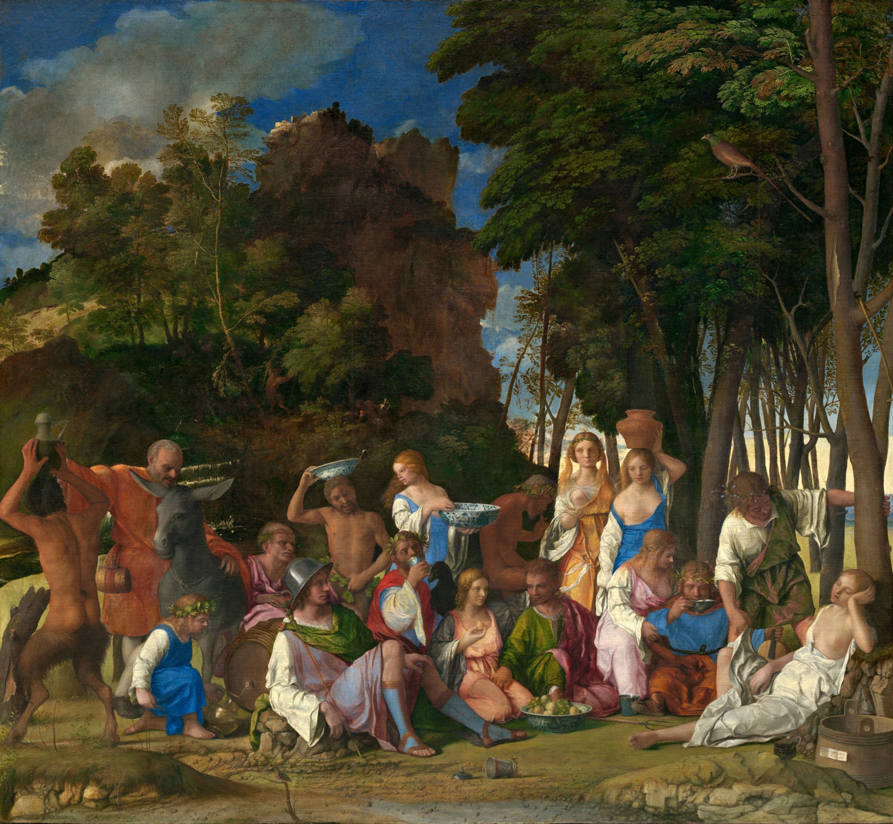The Feast of the Gods by Giovanni Bellini and Titian
