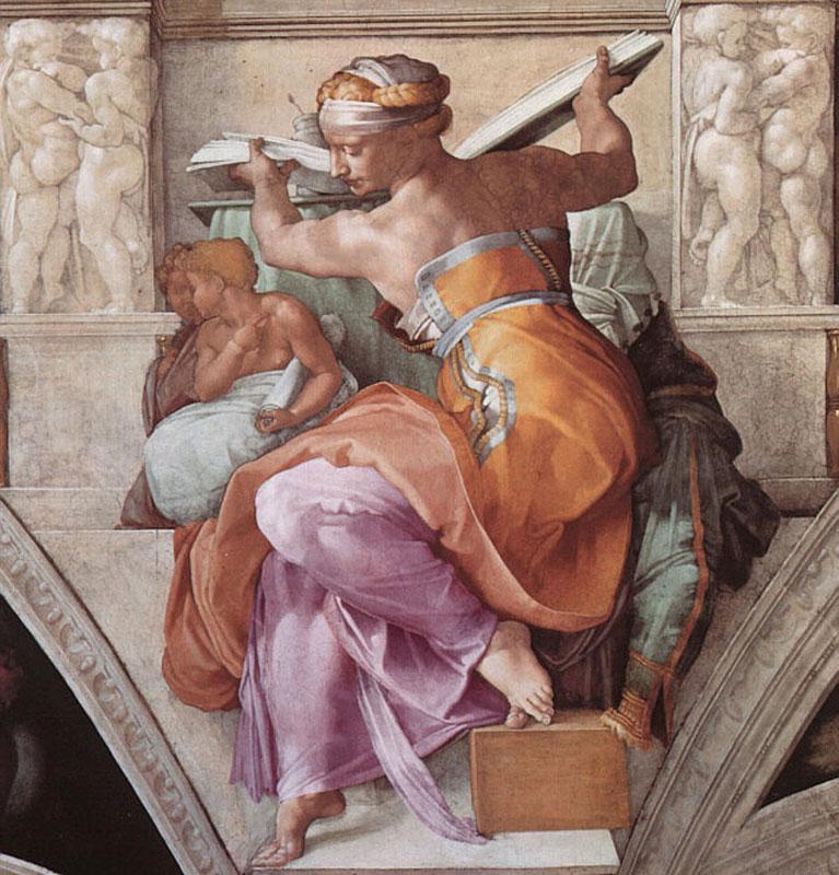 Libyan Sibyl by Michelangelo
