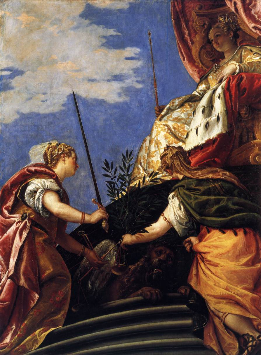 Venetia between Justitia and Pax by Paolo Veronese