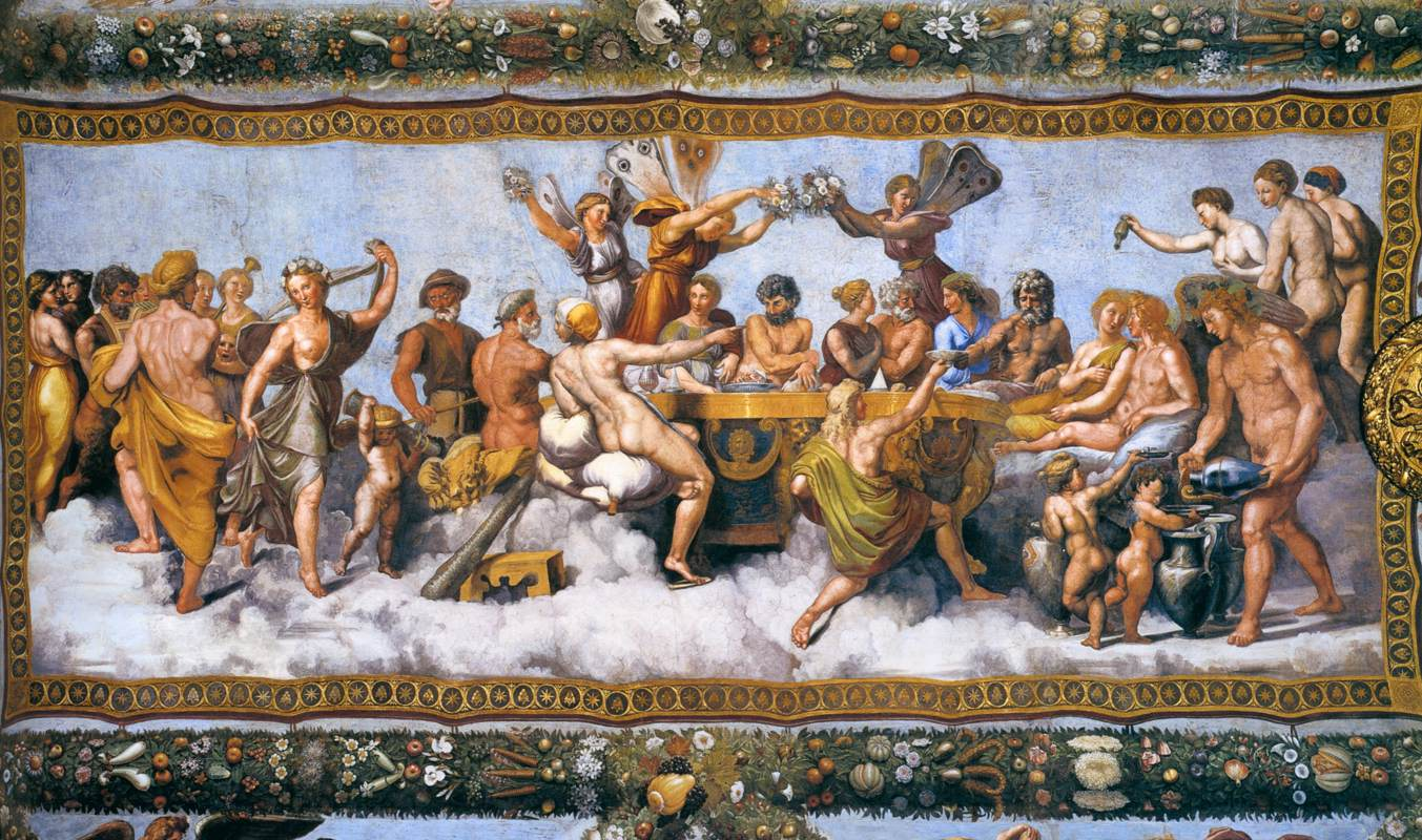 Wedding Banquet of Cupid and Psyche by Raphael