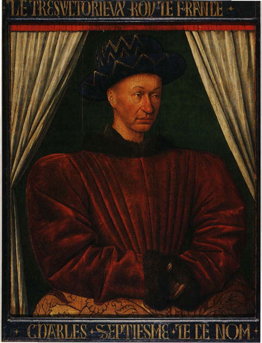 Charles VII (1403-1461), King of France by Jean Fouquet