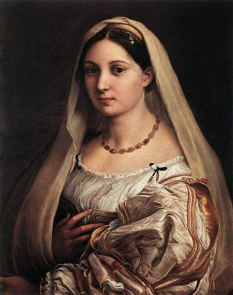 La donna velata or The woman with the veil by Raphael