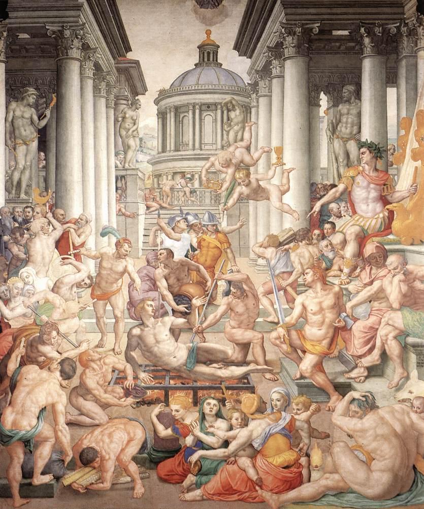 Martyrdom of St Lawrence by Bronzino