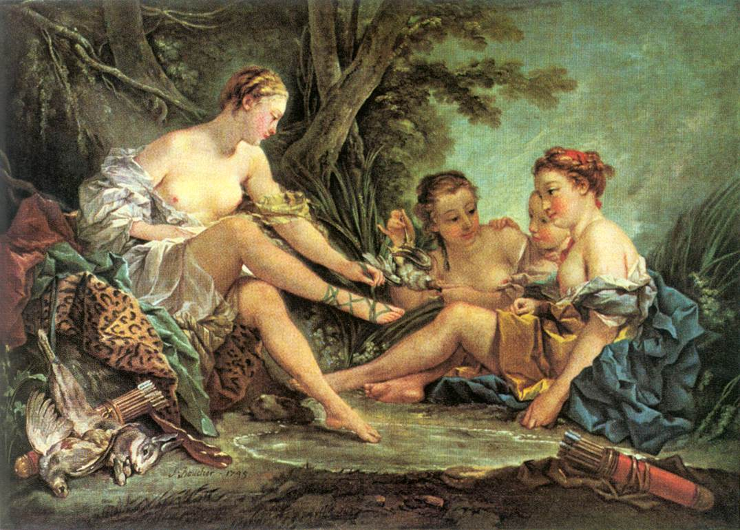 Diana after the Hunt by François Boucher