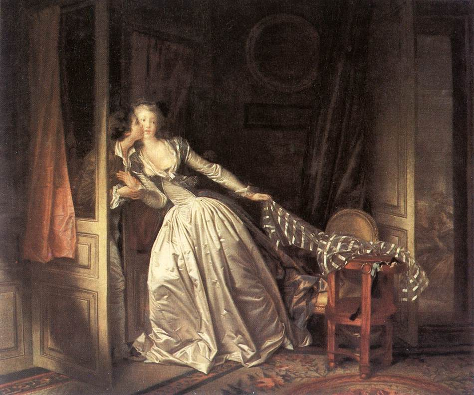 The Stolen Kiss by Jean-Honore Fragonard