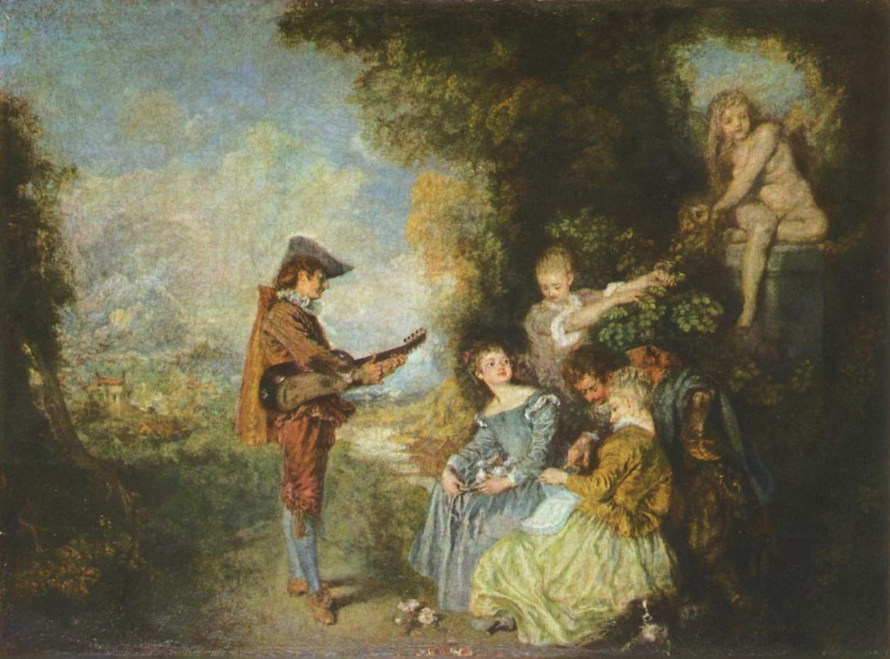 The Lesson of Love by Jean-Antoine Watteau