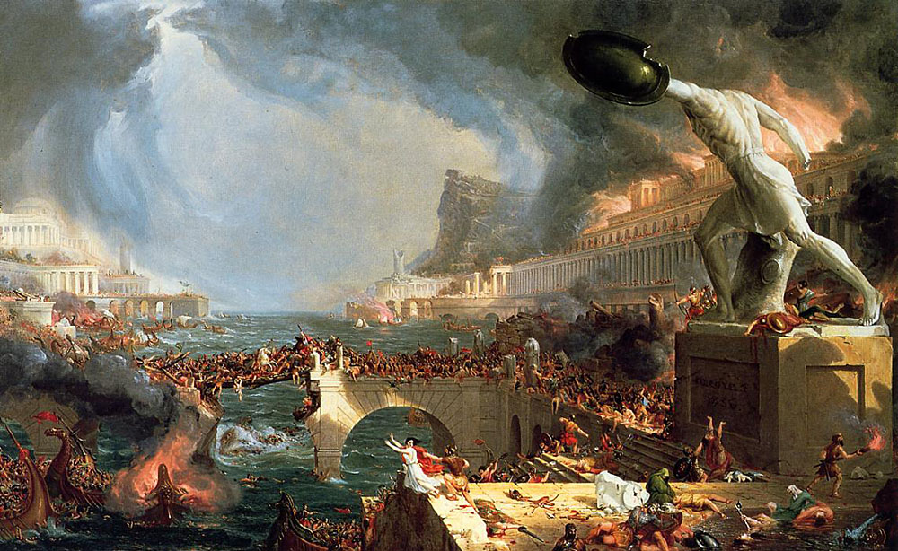 The Course of Empire Destruction 1836 by Cole Thomas