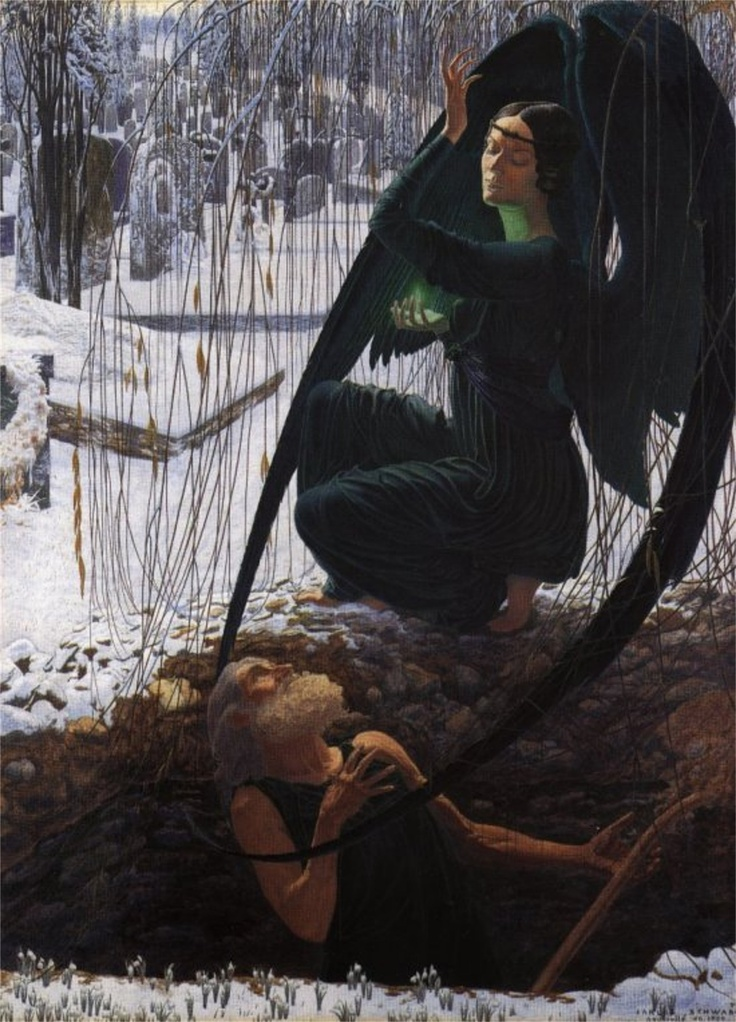 Carlos Schwabe - The Death of the Grave Digger