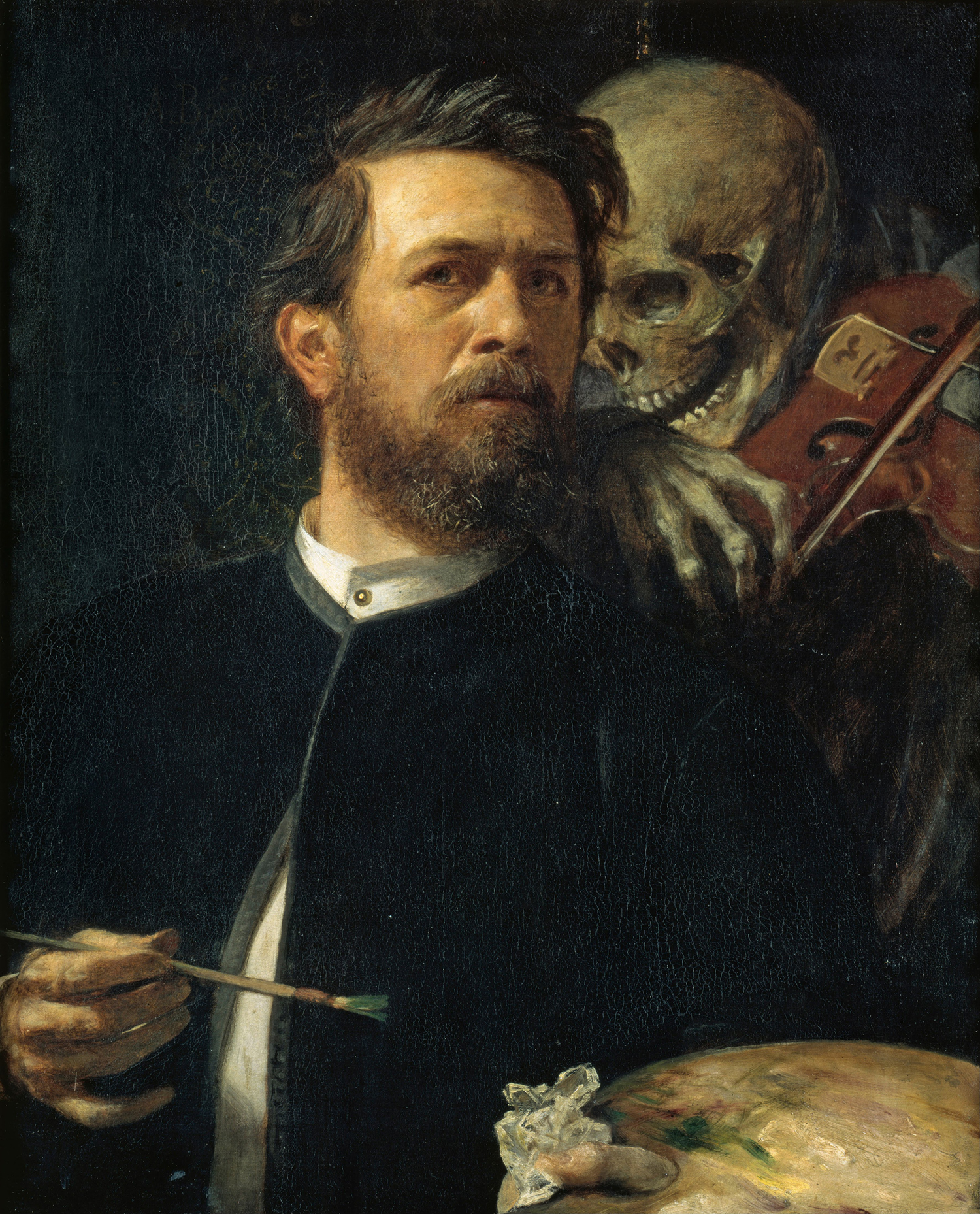 Arnold Böcklin - Self-Portrait with Death Playing the Fiddle